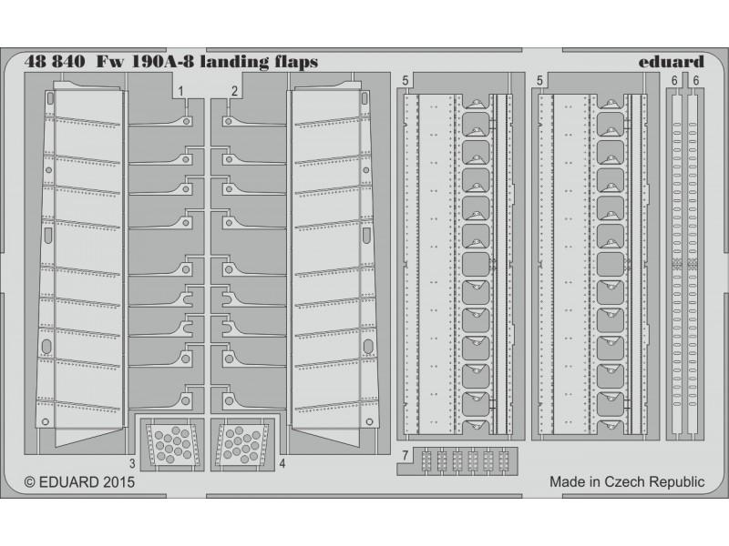 FOTOINCISIONI EDUARD 1/48 PER Fw 190A-8 landing flaps (Eduard)