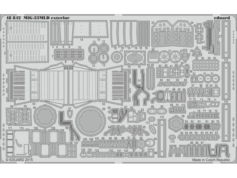 FOTOINCISIONI EDUARD 1/48 PER MiG -23MLD exterior (Trumpeter)