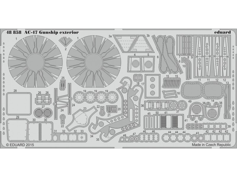 FOTOINCISIONI EDUARD 1/48 PER AC-47 Gunship exterior (Revell)
