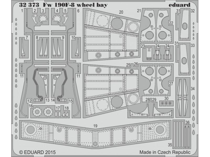 FOTOINCISIONI EDUARD 1/32 PER Fw 190F-8 wheel bay (Revell)
