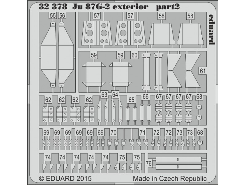FOTOINCISIONI EDUARD 1/32 Ju 87G-2 exterior (Trumpeter)