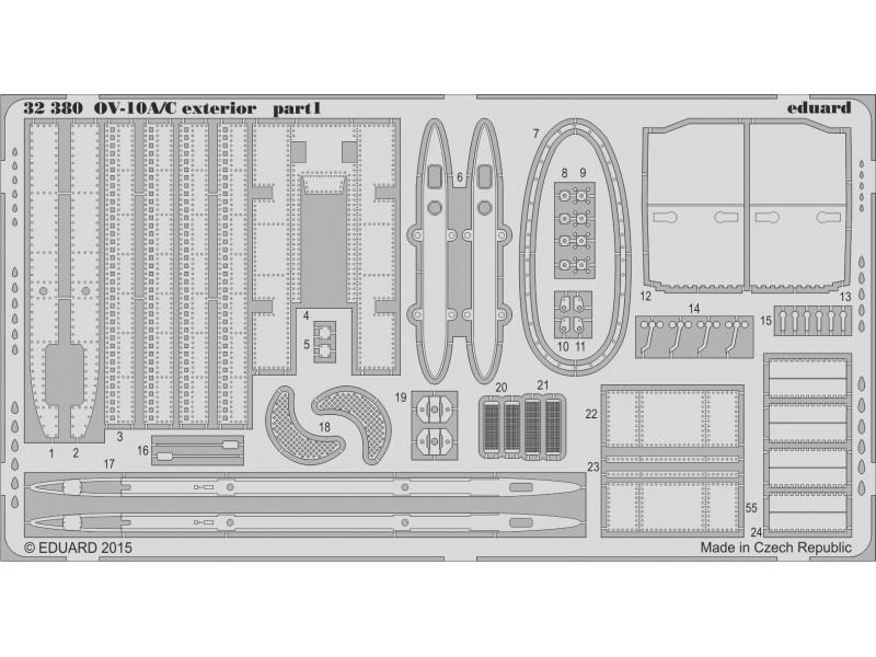 FOTOINCISIONI EDUARD 1/32 OV-10A/C exterior (KittyHawk)
