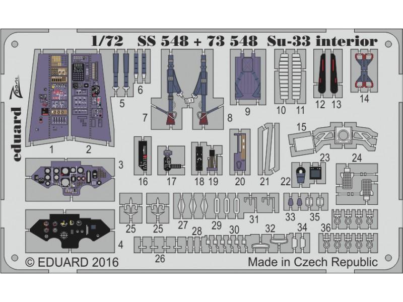FOTOINCISIONI EDUARD 1/72 Su-33 (Trumpeter)