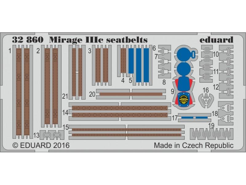 FOTOINCISIONI EDUARD 1/32 Mirage IIIc seatbelts (Italeri)