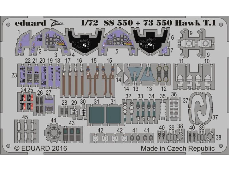 FOTOINCISIONI EDUARD 1/72 Hawk T.1 (Revell)