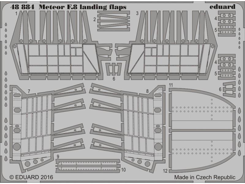 FOTOINCISIONI EDUARD 1/48 Meteor F.8 landing flaps (Airfix)