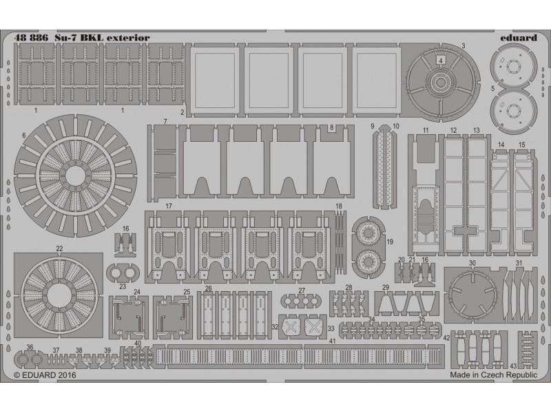 FOTOINCISIONI EDUARD 1/48 Su-7 exterior (SMER)
