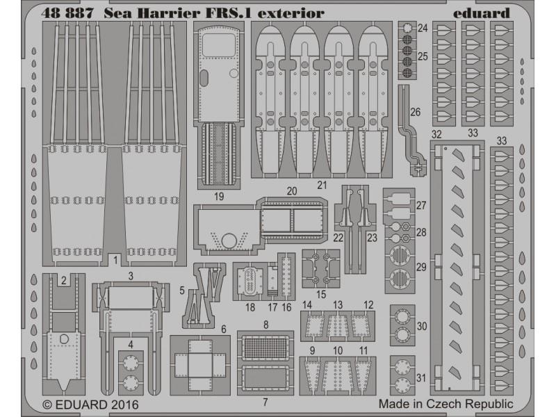 FOTOINCISIONI EDUARD 1/48 Sea Harrier FRS.1 exterior (Kinetic)
