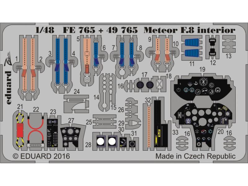 FOTOINCISIONI EDUARD 1/48 Meteor F.8 interior (Airfix)