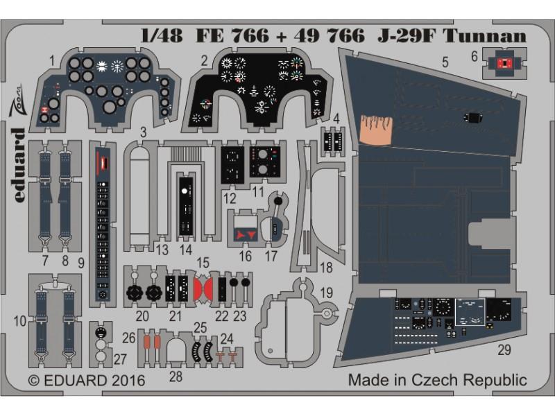FOTOINCISIONI EDUARD 1/48 J-29F Tunnan (Hobby Boss)