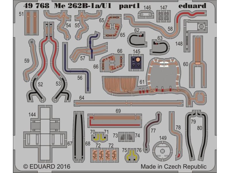 FOTOINCISIONI EDUARD 1/48 Me 262B-1a/U1 (HobbyBoss)