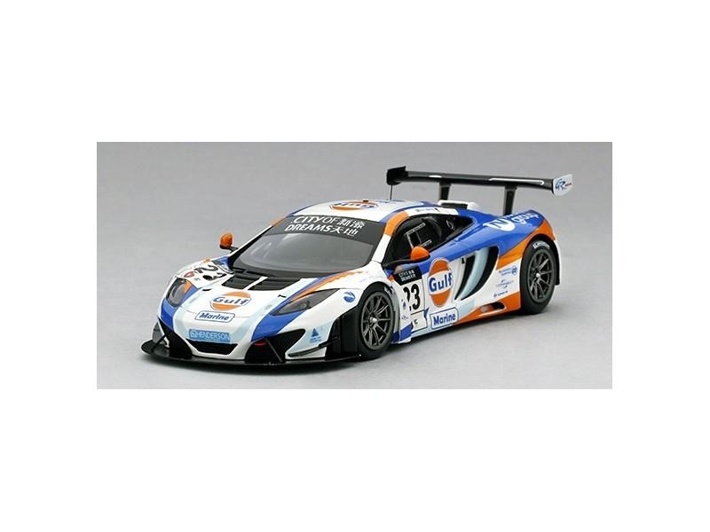 TSM MODEL MODELLINO AUTO 1:43 McLAREN 12C GT3 GULF UNITED AUTOSPORT N.23 2ND PLACE MACAU GP 2013