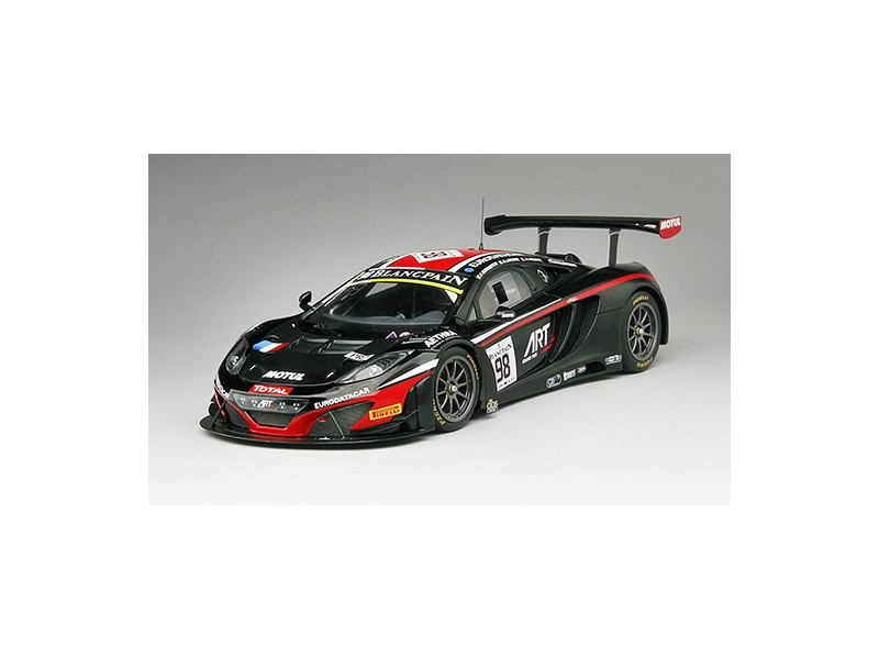 TSM MODEL MODELLINO AUTO 1:18 McLAREN 12C GT3 n.98 TOTAL ART GRAND PRIX 24H SPA 2014