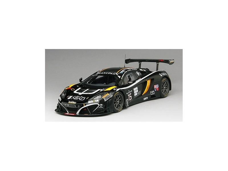 TSM MODEL MODELLINO AUTO 1:18 McLAREN 12C GT3 N.15 BOUTSEN GINION RACING 24H SPA 2014