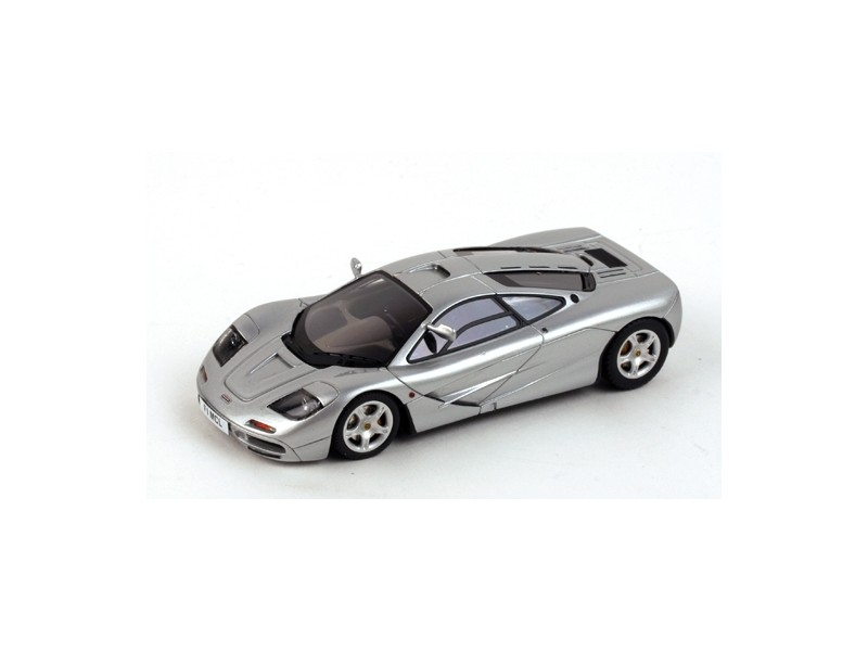 TSM MODEL MODELLINO AUTO 1:43 McLAREN F1 CHASSIS n.50 SILVER WITH HIGH MIRROR SIGNED BY RON DENNIS