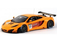 TSM MODEL MODELLINO AUTO 1:43 McLAREN MP4-12C GT3 n.59 ORANGE 2011