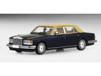 TSM MODEL MODELLINO AUTO 1:43 ROLLS ROYCE SILVER SPUR II 1991 DARK NAVY WITH CREAM TOP