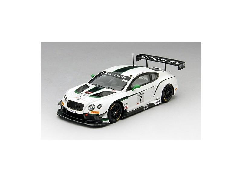 TSM MODEL MODELLINO AUTO 1:43 BENTLEY GT3 n.7 M-SPORT WINNER BLANCPAIN GT SILVERSTONE 2014