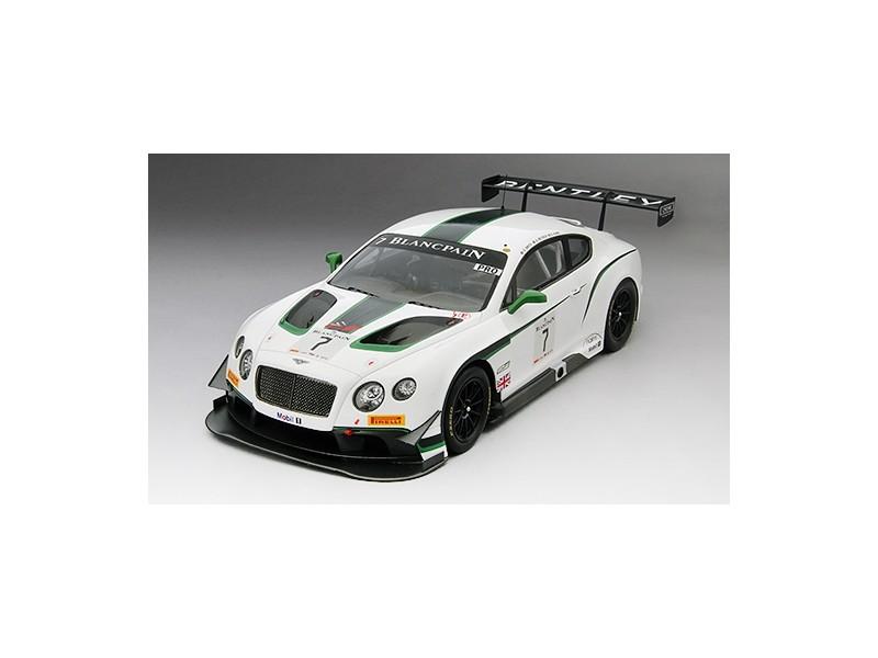 TSM MODEL MODELLINO AUTO 1:18 BENTLEY GT3 n.7 BLANCPAIN GT SILVERSTONE WINNER 2014