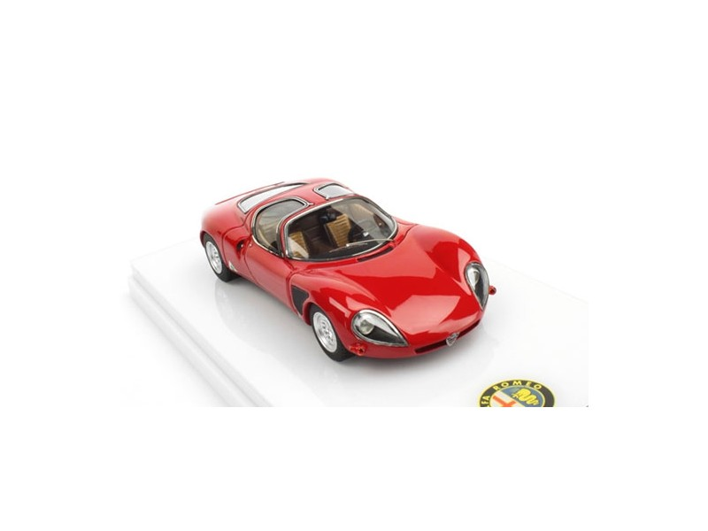 TSM MODEL MODELLINO AUTO 1:43 ALFA ROMEO 33 STRADALE 1968 RED LATE VERSION