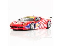 TSM MODEL MODELLINO AUTO 1:43 FERRARI 458 ITALIA GTE AM N.61 TEAM LUXURY RACING 24H LE MANS 2012 FUJIMI