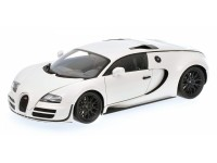 MINICHAMPS MODELLINO AUTO 1:18 BUGATTI VEYRON SUPER SPORT 2010 WHITE WITH BLACK RIMS