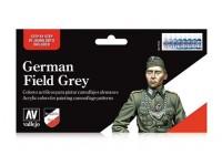 VALLEJO CONFEZIONE 8 COLORI 17 ML GERMAN FIELD GREY PER UNIFORMI TEDESCHE