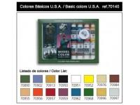 VALLEJO CONFEZIONE 16 COLORIDA 17 ML PER AMERICANI U.S.A. BASIC