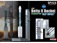 DRAGON MODELLINO 1:400 DELTA II ROCKET WITH LAUNCH PAD DEEP IMPACT