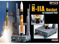 DRAGON MODELLINO 1:400 H-IIA ROCKET WITH LAUNCH PAD