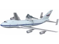 DRAGON MODELLINO 1:400 NASA BOEING 747 WITH X-45C PHANTOM RAY EDWARDS