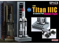 DRAGON MODELLINO 1:400 TITAN III C WITH LAUNCH PAD MAIDEN FLIGHT