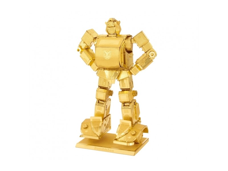 METAL EARTH BUMBLEBEE GOLD VERSION TRANSFORMERS KIT IN METALLO 3D