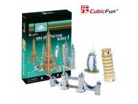 CUBICFUN MODELLINI MINI ARCHITECTURE SET IN PUZZLE 3D