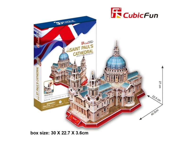 CUBICFUN MODELLINO ST. PAUL'S CATHEDRAL LONDRA IN PUZZLE 3D