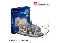 CUBICFUN MODELLINO CON LED NOTRE DAME PARIGI IN PUZZLE 3D