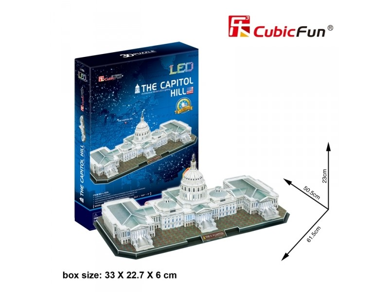 CUBICFUN MODELLINO CON LED CAMPIDOGLIO WASHINGTON IN PUZZLE 3D