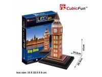 CUBICFUN MODELLINO CON LED BIG BEN LONDRA IN PUZZLE 3D