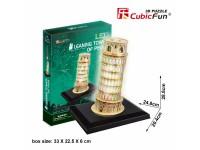CUBICFUN MODELLINO CON LED TORRE DI PISA IN PUZZLE 3D