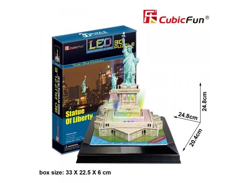 CUBICFUN MODELLINO CON LED STATUA DELLA LIBERTA' IN PUZZLE 3D
