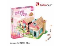 CUBICFUN CASA DELLE BAMBOLE SWEET VILLA IN PUZZLE 3D