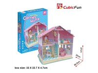 CUBICFUN CASA DELLE BAMBOLE DREAM DOLLHOUSE CARRIE'S IN PUZZLE 3D