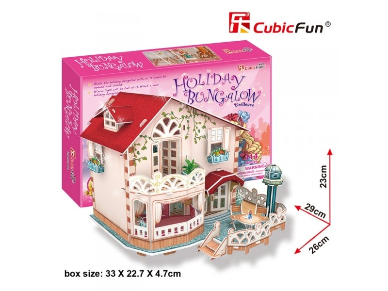 CUBICFUN CASA DELLE BAMBOLE HOLIDAY DOLLHOUSE IN PUZZLE 3D