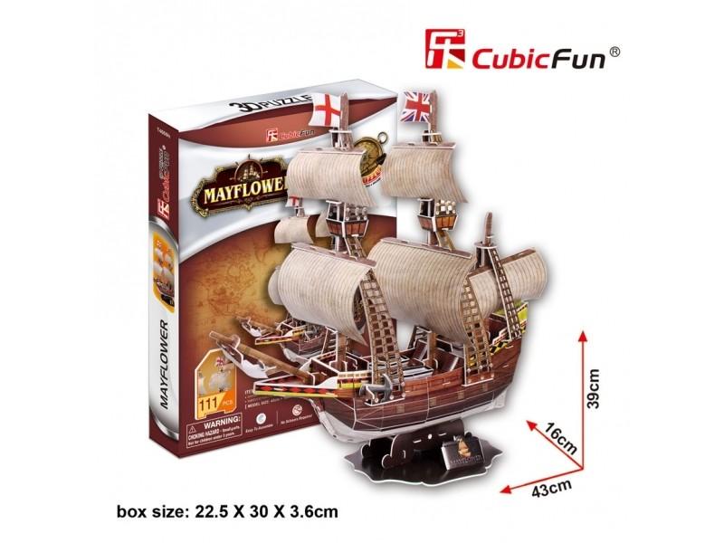 CUBICFUN MODELLINO VELIERO MAYFLOWER IN PUZZLE 3D