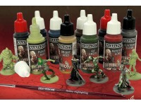 ARMY PAINTER SET 10 BOCCETTE COLORE 17 ML E PENNELLO PER MODELLINI ZOMBIE