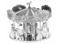 METAL EARTH KIT MODELLINO GIOSTRA CON CAVALLI MERRY GO ROUND IN METALLO