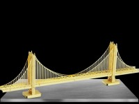 METAL EARTH KIT MODELLINO GOLDEN GATE SAN FRANCISCO GOLD IN METALLO