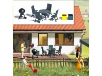 BUSCH BARBECUE SET GARDEN PARTY HO PER PLASTICI MODELLISMO