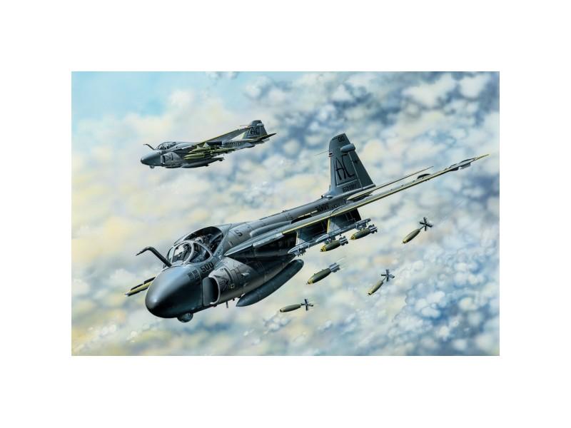 HOBBY BOSS SCATOLA MONTAGGIO MODELLINO AEREO A-6E TRAM INTRUDER 1/48
