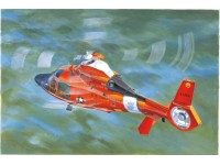 MODELLISMO TRUMPETER KIT MODELLINO ELICOTTERO US COAST GUARD HH-65C DOLPHIN HELICOPTER 1/35